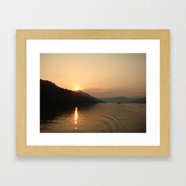Yangtze River Sunset Framed Art Print
