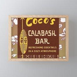 Tiki Art - Coco's Calabash Bar Framed Mini Art Print