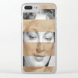 Leonardo da Vinci Head of Woman & Ava Gardner Clear iPhone Case