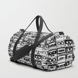 Something Nostalgic - black and white #decor #society6 #buyart Duffle Bag