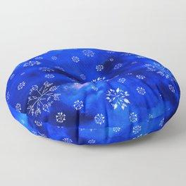 Snowflakes Floor Pillow