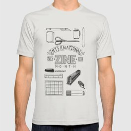 International Zine Month 2014 Poster T-shirt