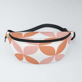 Mid Century Modern Motif Pattern in Burnt Orange and Blush Fanny Pack
