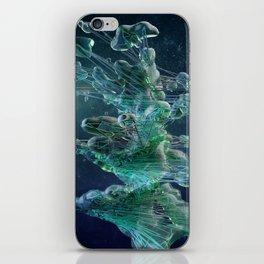 Blue blob iPhone Skin