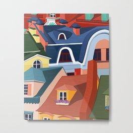 Rooftops in Color Metal Print