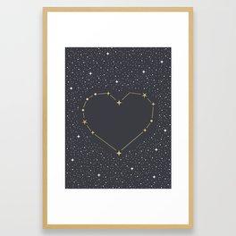 Heart Constellation Framed Art Print