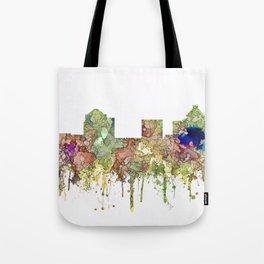 Greensboro, North Carolina Skyline - Faded Glory Tote Bag