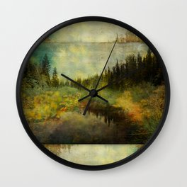 Into the Woods the Fairy Fled Wall Clock