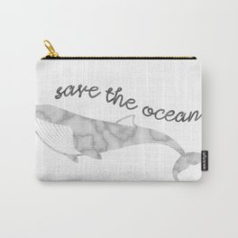 Save The Ocean - Marble Whale Carry-All Pouch