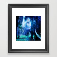 Blue night #Wood Framed Art Print