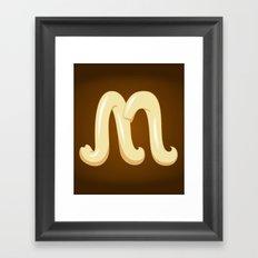 Alphabet M Framed Art Print