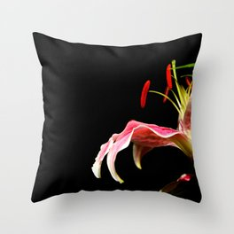 lone lily Throw Pillow