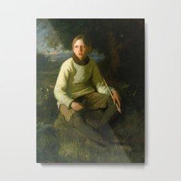 "Douglas Volk ""The Boy with the Arrow"" Metal Print"