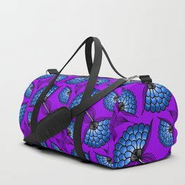 African Floral Motif on Purple Duffle Bag