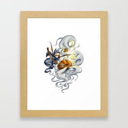 Grim and Ghost Friends Framed Art Print