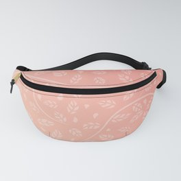 Coral Vine and Leaf Organic Pattern Fanny Pack