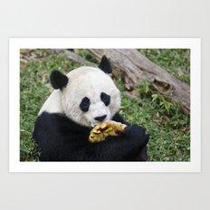 Panda Likes Art Print