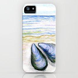 Blue mussel iPhone Case