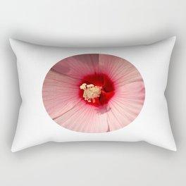 Pink Hibiscus Close-up Flower Photography Rectangular Pillow