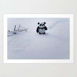 Zeke the Zen Panda Art Print