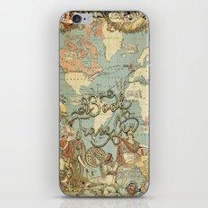 Book Traveler Vintage Map v3 iPhone & iPod Skin