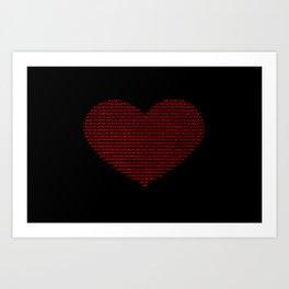 ASCII heart C64 Art Print