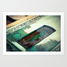 Water Collected on a Gravesite Art Print