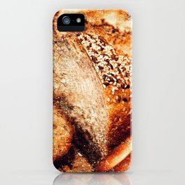Still Life Of A Sliced Loaf Of Bread And Cracknels iPhone Case