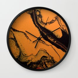 Dirty Acrylic Pour Painting 07, Fluid Art Reproduction Abstract Artwork Wall Clock