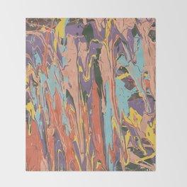 Baesic Primary Paint Drips Throw Blanket