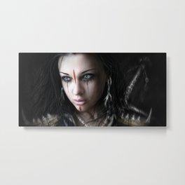 Edge of Her World Metal Print