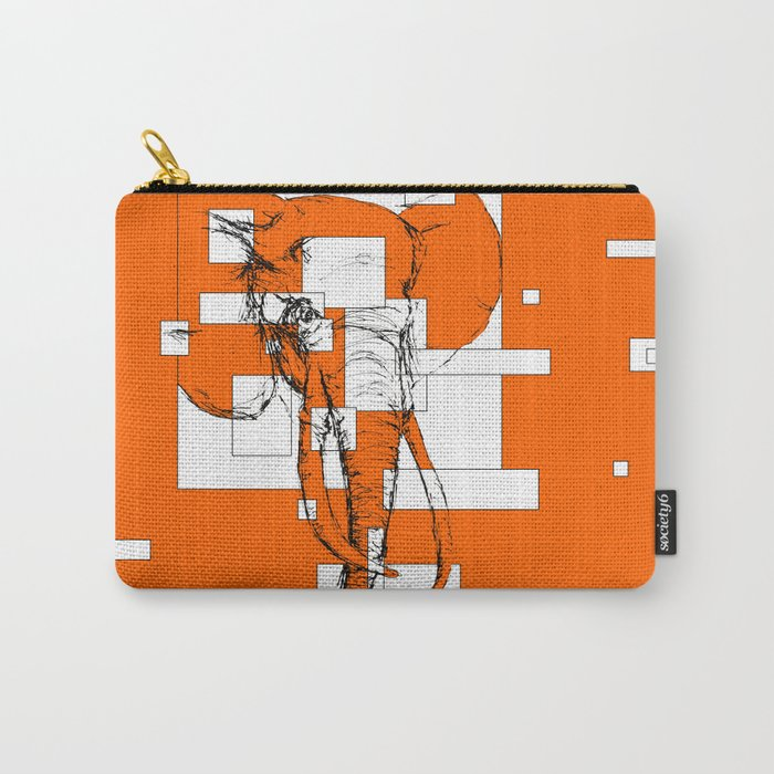 Orange is the New Elephant Carry-All Pouch