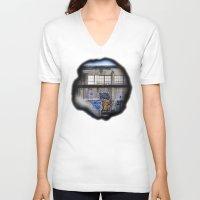 portal V-neck T-shirts featuring Portal by Calle de Rosa