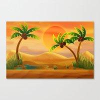 oasis Canvas Prints featuring Oasis by Tatyana Adzhaliyska