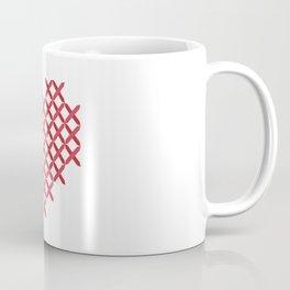 Cross stitch Christmas love heart Coffee Mug
