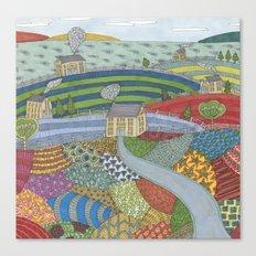 island patchwork Canvas Print