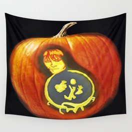 labyrinth  pumpkin carving  Wall Tapestry