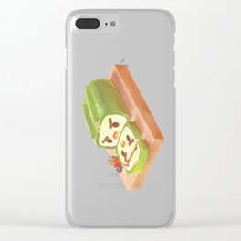 Matcha Cake Roll Clear iPhone Case