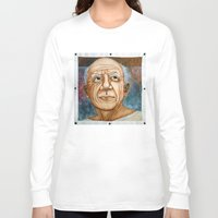 pablo picasso Long Sleeve T-shirts featuring Pablo Picasso by Michael Cu Fua