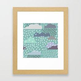 autumn rain pattern Framed Art Print