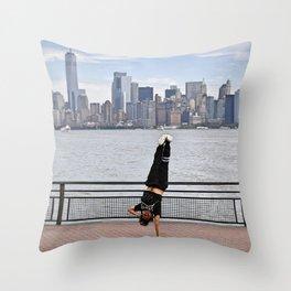B-Boy takes NYC Throw Pillow