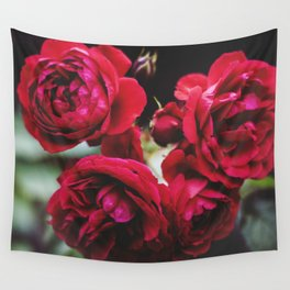 Red Red Roses Wall Tapestry
