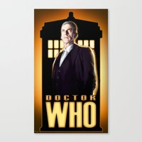 doctor Canvas Prints featuring Doctor ? by rnlaing