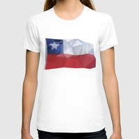 chile T-shirts featuring CHILE FLAG  by Favio Torres