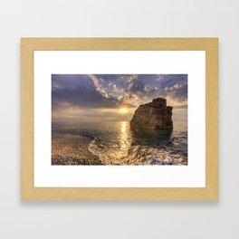Sunset from Capo Rasocolmo, Sicily, IT Framed Art Print