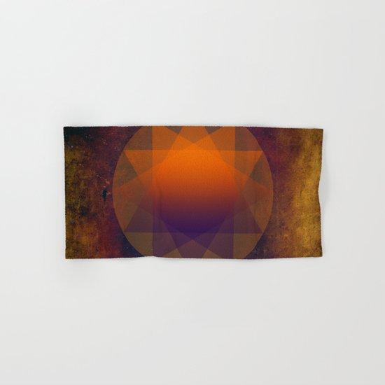 Merkaba, Abstract Geometric Shapes Hand & Bath Towel