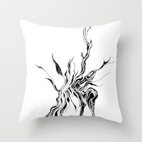 hydra Throw Pillows featuring Hydra (detail) by Cloudery