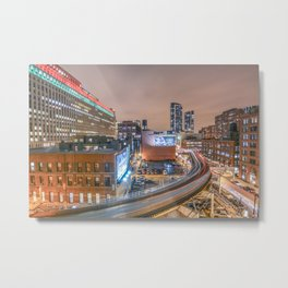 2 Trains Metal Print