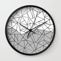 Ab Half n Half Wall Clock