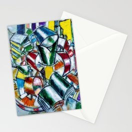 Vibrant and Colorful 'Nature Morte (Still Life)' by Fernand Léger Stationery Cards